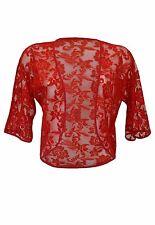 New Women Ladies Lace shrug Bolero Open Small Cardigan Plus SIze 12-28