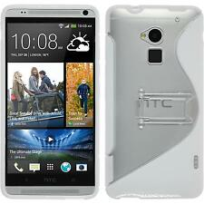 Coque en Silicone HTC One Max -  blanc + films de protection
