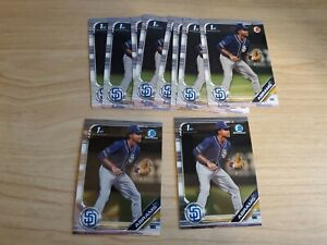 2019 Bowman Draft CJ Abrams 1st Bowman Lot of 8 Base and 2 Chrome RC Lot