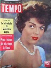 TEMPO n°1 1960 Valeria Fabrizi - Rivoltelle di Maurizio Arena - Mussolini  [C89]