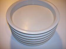 6 High Temp Plastic Restaurant Cafeteria Food Service Plates 9 inch Temp-Tech