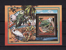 timbre en OR  Comores  bloc  scoutisme nature oiseaux peroquet  d   **