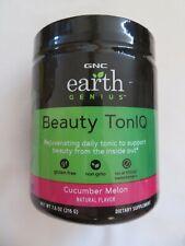 GNC Earth Genius Beauty TonIQ Cucumber Melon 7.6 Oz 20 Servings @4