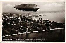 """Zeppelin, """"Graf Zeppelin"""" Friedrichshafen, in voller Fahrt vom Flugzeug  gesehen"""