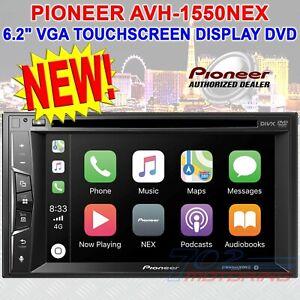 "PIONEER AVH-1550NEX DVD RECEIVER AM/FM TUNER 6.2"" VGA TOUCHSCREEN DISPLAY BT HD"