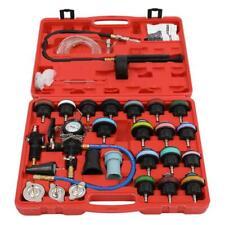 28Pcs Pneumatic Vacuum Radiator Coolant Pressure Cooling System Tester Kit +Case