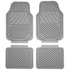 Sumex Universal Heavy Duty Durable Thick Set of 4 Rubber Car Floor Mats - Grey