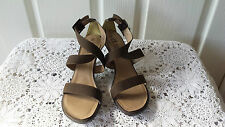 Dice Crossover Khaki Tan Strappy Heels Size 8 BNWOT