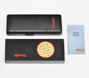 VINTAGE NEW ROTRING BLACK PLASTIC GIFT BOX FOR 3 PEN / PENCILS R026009