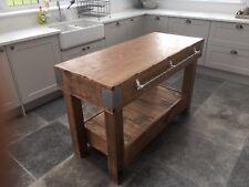Enorme rovere inglese MACELLAI blocco cucina isola tavolo Storage MOBILI VINTAGE