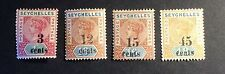 Seychelles 1893 Overprints MM