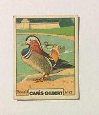 CHROMO Image CAFES GILBERT années 30 Série 2 n° 12 CANARD MANDARIN