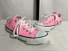 CONVERSE ALL STAR CANVAS LOW TOP SNEAKERS LACE UP SHOES PINK M 6 W 8 NEW! $55