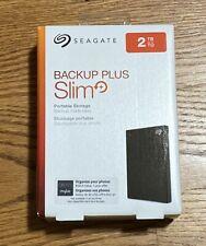 Seagate 2TB Backup Plus Slim Portable External Hard Drive STHN2000400 Brand New