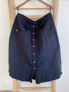 Gudrun Sjoden Cotton/Linen Smalrandig Skirt Size  XXL (22-24)