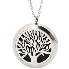 Baum des Lebens Anhänger Medaillon 316L Edelstahl Halskette für ätherische Öl