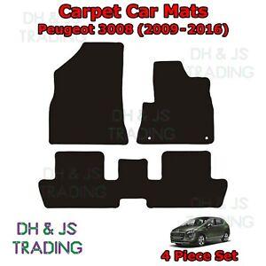 (09-16) Fits Peugeot 3008 Fully Tailored Carpet Car Mats Black 4pc Floor Set