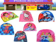 Kids Girl Boys children Dora Princess Spiderman Swim Cap Swimming Beanie Hat