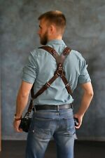 Dual Camera Strap, Dual Camera Harness,Leather Camera Harness
