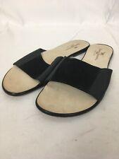 Tommy Bahama Womens Size 10 Black Slide Sandal Flat Italy