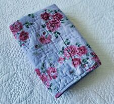 Simply Shabby Chic Purple Berry Rose Quilted Euro Pillow Sham EUC Floral Cottage