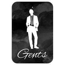 "Gents Men Bathroom Restroom Novelty Metal Sign 6"" x 9"""