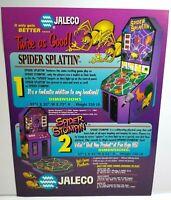 Spider Splattin Arcade FLYER Jaleco Spider Stompin 2 Original NOS Redemption