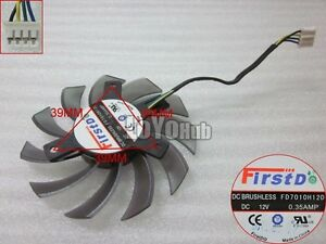 Firstd FD7010H12D graphics card fan 12V 0.35A 75x75x10mm 4Wire 4-Pin 75mm