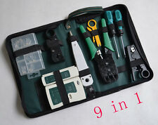 RJ45 RJ11 RJ12 LAN Network Tool Kit Cable Tester Crimp Crimper Plug Pliers  9in1