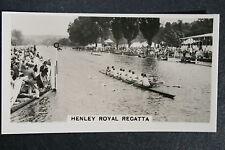 Henley Regatta London RC V Université Harvard années 1930 Action carte photo très bon état