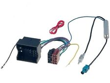 VW Seat Skoda Car Radio Stereo iso wiring harness convertor Fakra aerial adaptor