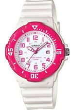 Casio LRW200H-4BV Women's White Resin Band Pink Bezel 100M Sports Analog Watch