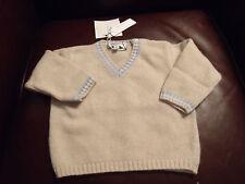 Simonetta Boys' Beige Wool & Cashmere Pullover (9Month) MSRP:  $198.00