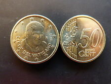 Pièce monnaie VATICAN 0,50 € 2013 PAPE BENOIT XVI NEUF UNC sortie de rouleau 7