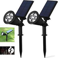 2 Vikilulu Solar Powered 4 LED Spotlights Garden Decor Waterproof Security Light