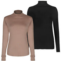 Marks & Spencer Womens Roll Polo Turtle Neck Tops New M&S Long Sleeve Pullover
