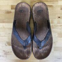 Ugg Tidelands Thong Sandals Mens Size 14 Brown Leather
