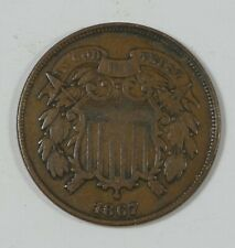 1867 Two-Cent Piece VERY FINE 2-Cents