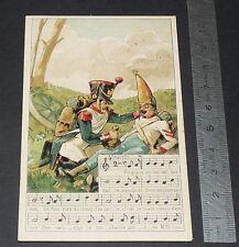 Chromo chocolat de royat 1910-1914 popular song rhyme fanfan the tulip 5