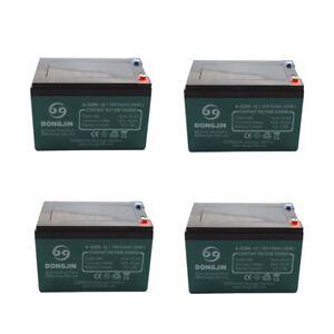 4 Pack Sealed Lead Acid Battery SLA for EZIP Scooter 650 750 900 12v 12Ah 48v
