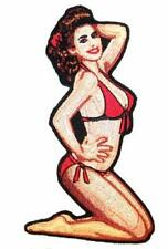 BIKINI PIN UP GIRL EMBROIDERED PATCH P6490 biker new iron on patches babe