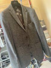 Two-Piece Moss London Grey Suit Slim Fit 38-40 Trousers 32 Waist
