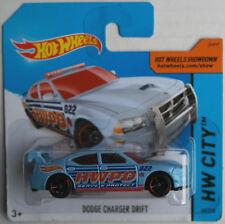 Hot Wheels Dodge Charger Drift hellblau POLICE Neu/OVP Polizei Polizia Mattel HW