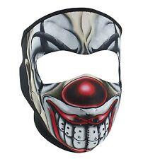 Chicano Red Nosed Clown Joker Neoprene Full Face Mask Biker Reversible To Black