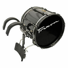 "Trixon Field Series Pro Marching Bass Drum 20 by 14"" Black Polish"