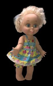 Vintage Galoob Baby Face doll So Innocent Cynthia in Replacement outfit