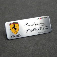 Aluminum MONENA  ITALY Signature Car Emblem Badge Sticker fit for Ferrari
