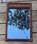 Vintage Cane Rattan Rectangle Mirror