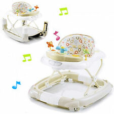 NEW MY CHILD WALK N ROCK MUSICAL BABY WALKER MUSIC & LIGHTS ROCKER CREAM