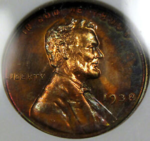 1938 Proof Lincoln Cent ANACS PF-64 RB...A SUPER Nice Coin, Great Surfaces!!